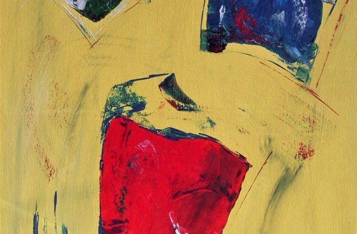 Swinging Points, Acryl auf Keilrahmen 80 x 60 cm