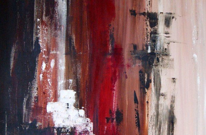 Spurensuche, Acryl auf Keilrahmen 100 x 50 cm