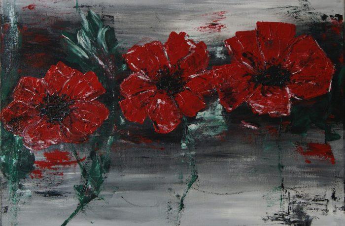Blütenzauber, Acryl auf Keilrahmen 60 x 60 cm