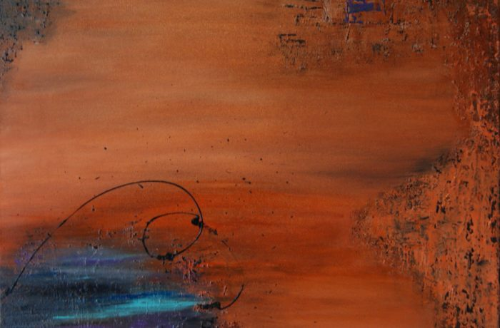 Funkenflug, Acryl auf Keilrahmen 70 x 70 cm