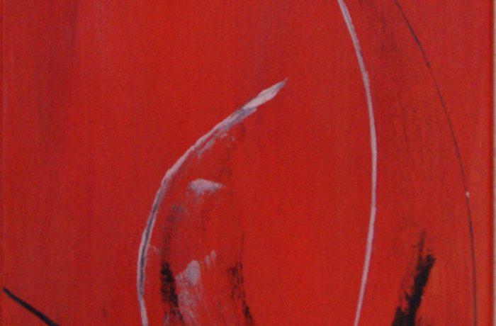 Knalleffekt, Acryl auf Keilrahmen 30 x 80 cm