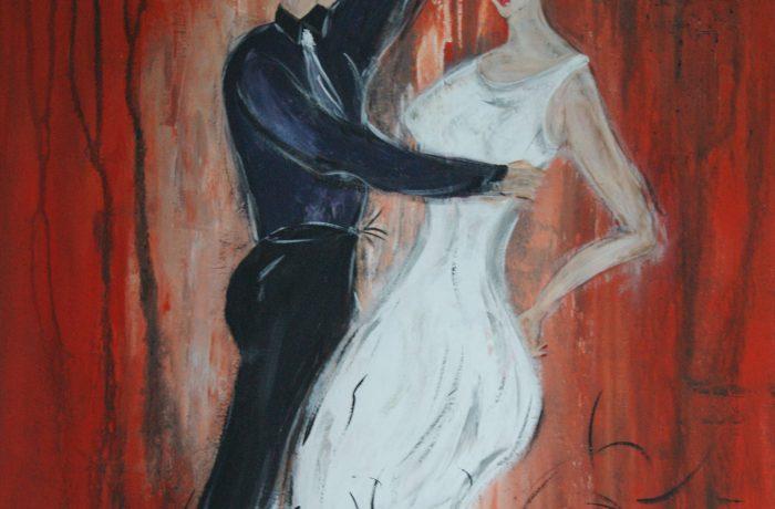 Dancing Stars, Acryl auf Keilrahmen  80 x 60 cm