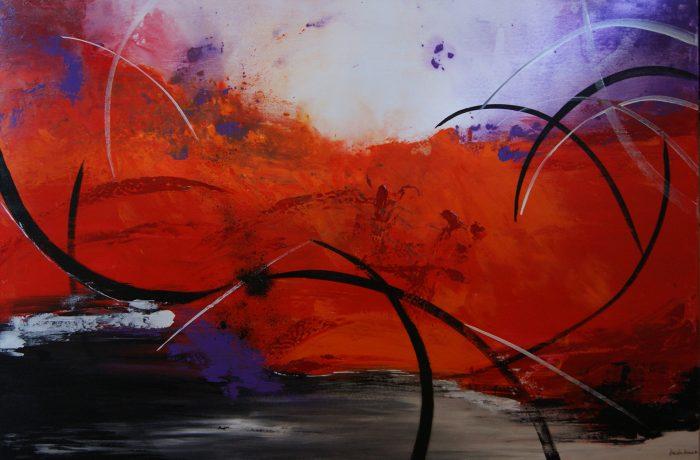 Eruption, Acryl auf Keilrahmen 120 x 80 cm