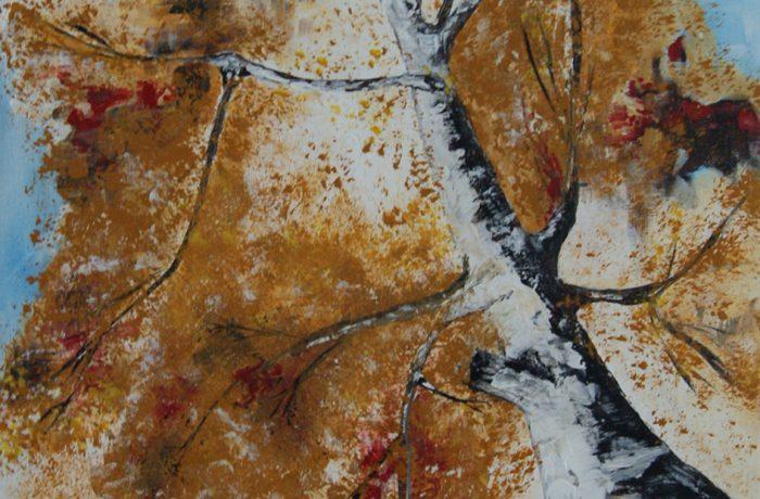 Herbstlich, Acryl auf Keilrahmen 40 x 80 cm