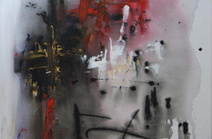 Elan, Acryl auf Keilrahmen 50 x 50 cm