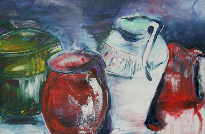 Stilleben, Acryl auf Keilrahmen 80 x 60 cm