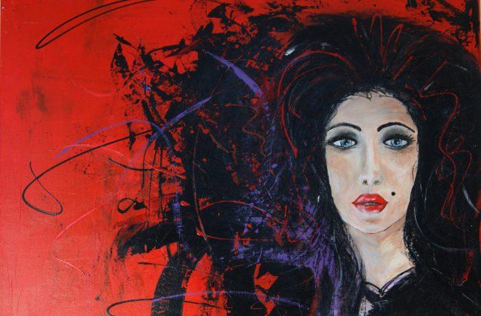 Rock-Lady, Acryl auf Keilrahmen  80 x 60 cm