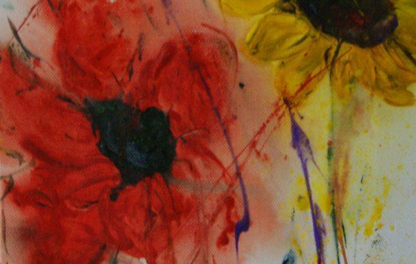 Sommerredoute, Acryl auf Keilrahmen 25 x 58 cm