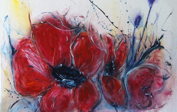 Romantische Wildheit, Acryl auf Keilrahmen 80 x 60 cm