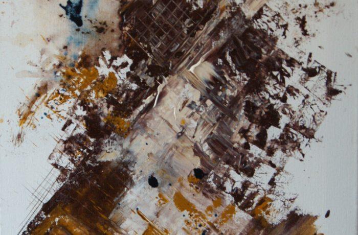 Geheimsache, Acryl auf Keilrahmen 40 x 80 cm