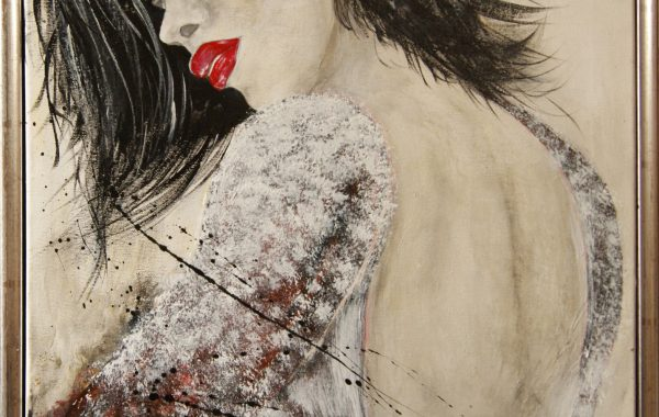 Begierde, Acryl auf Keilrahmen mit Rahmen 44 x 54 cm