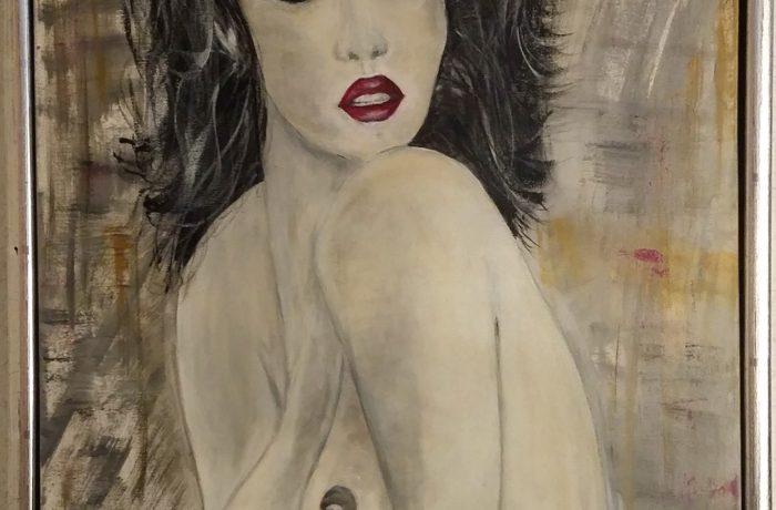 Lust, Acryl auf Keilrahmen mit Rahmen 44 x 54 cm