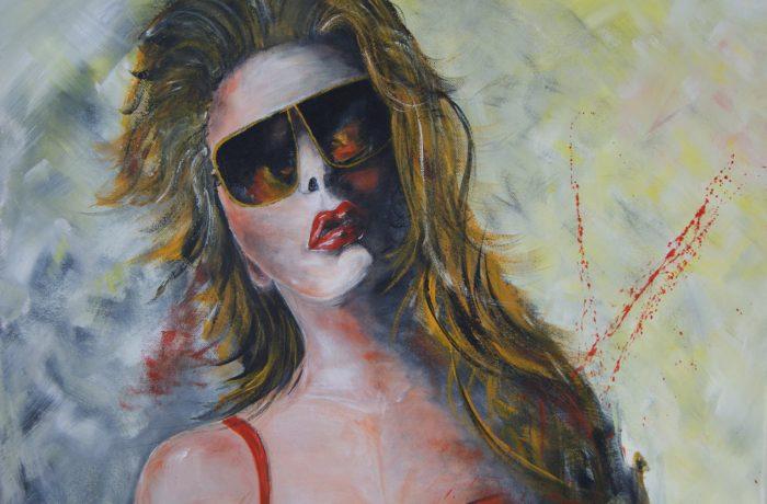 Wild und verführerisch, Acryl auf Keilrahmen 80 x 60 cm