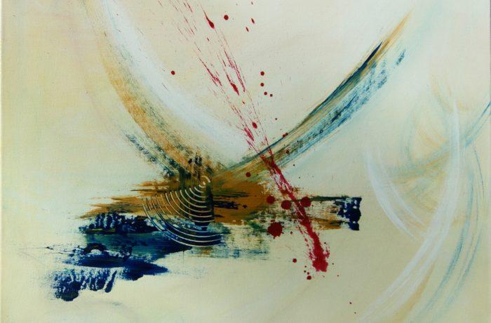 Klangwelle, Acryl auf Keilrahmen 60 x 60 cm