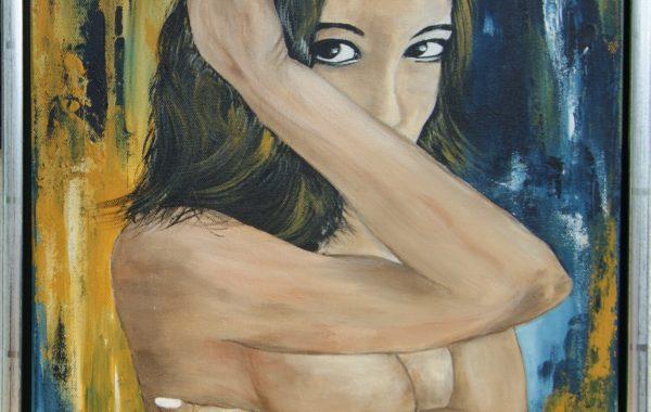 Verlangen,  Acryl auf Keilrahmen mit Rahmen 44 x 54 cm