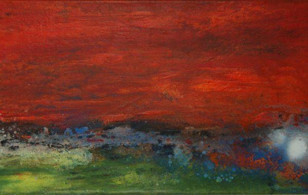 Toscana-abstrakt, Acryl auf Keilrahmen 80 x 30 cm