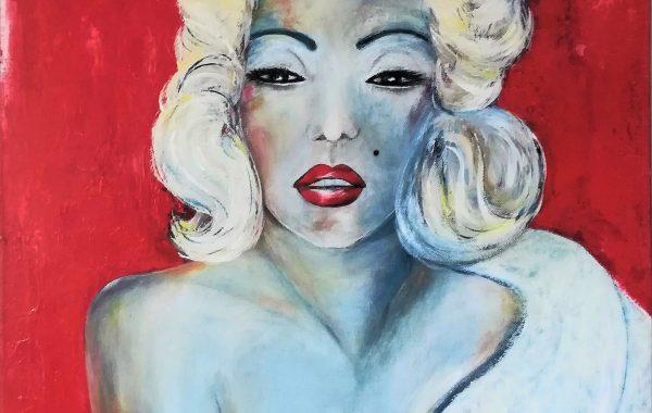 Marylin, Acryl auf Keilrahmen 58 x 58 cm