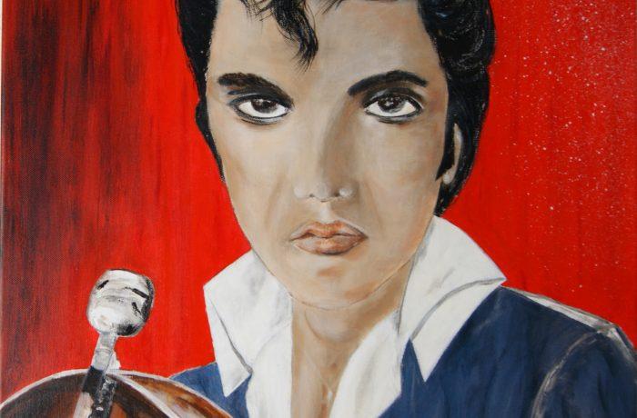 Elvis Presley, Acryl auf Keilrahmen 58 x 58 cm