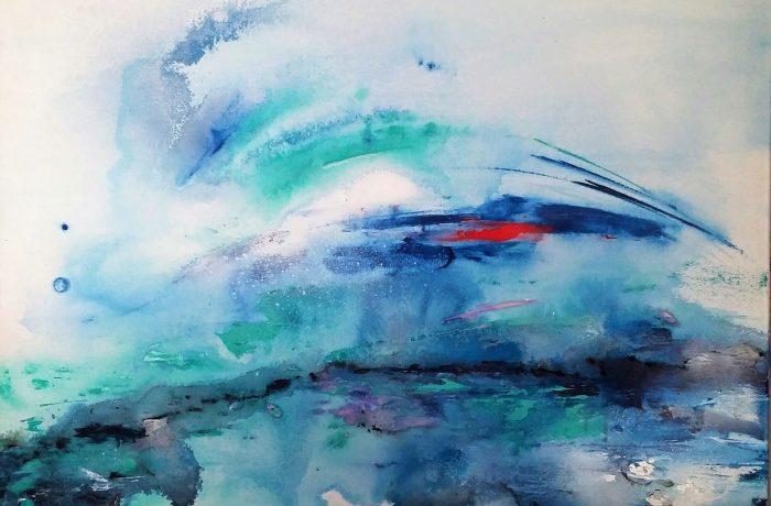 Zwischen Himmel und Erde, Acryl auf Keilrahmen 90 x 70 cm