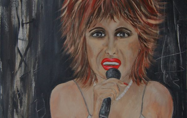 Tina Turner, Acryl auf Keilrahmen  58 x 58 cm