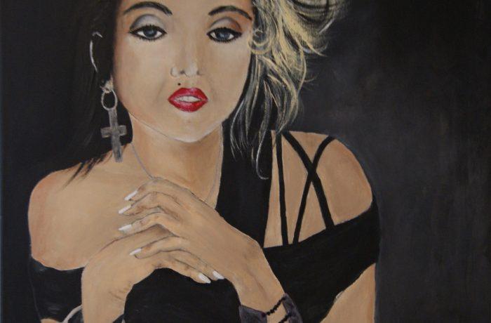 Madonna, Acryl auf Keilrahmen 58 x 58 cm