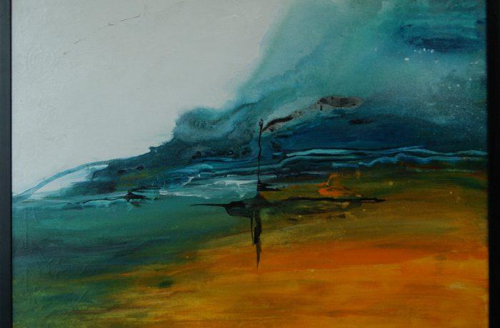 Laune der Natur, Acryl auf Keilrahmen mit Rahmen 83 x 63 cm