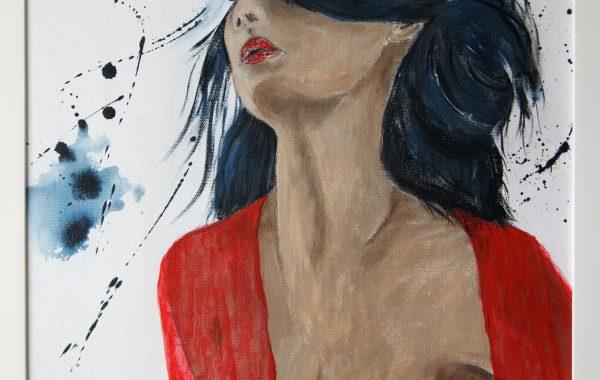 Raffinesse, Acryl auf Keilrahmen mit Rahmen 43 x 53 cm
