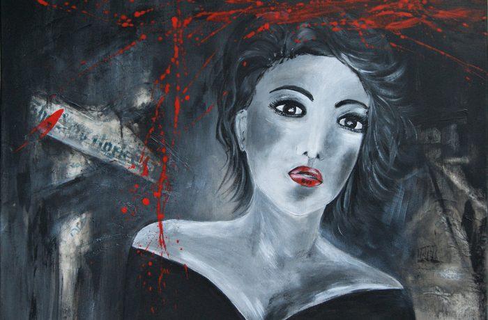 Black Angel, Acryl auf Keilrahmen 80 x 60 cm