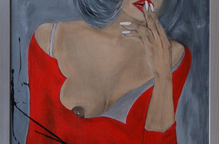 Silence, Acryl auf Keilrahmen mit Rahmen 43 x 53 cm