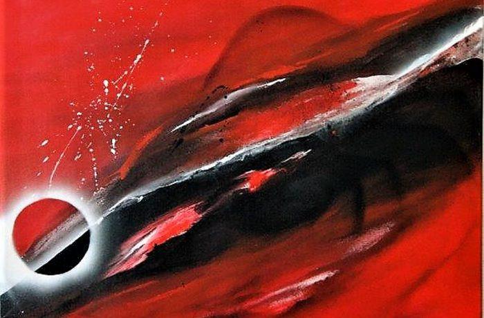 Abstrakt, Acryl auf Keilrahmen 70 x 70 cm