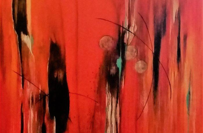 grenzenlos, Acryl auf Keilrahmen 90 x 150 cm