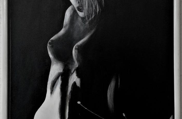 Woman._.I am !, Acryl auf Keilrahmen mit Rahmen 44 x 54 cm