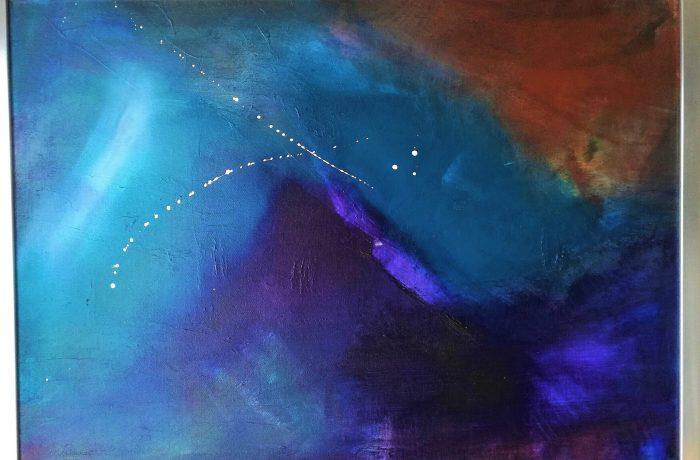 Im Rausch der Farben, Acryl auf Keilrahmen mit Rahmen 73 x 53 cm