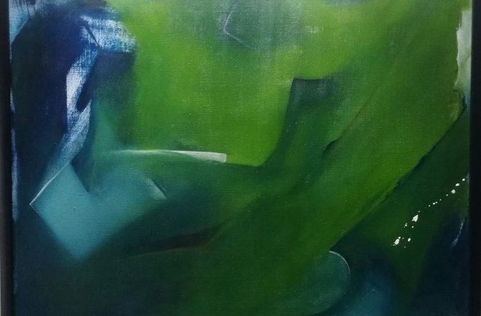 Smaragd, Eitempera auf Keilrahmen mit Rahmen 83 x 63 cm