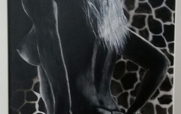 Fever, Acryl auf Keilrahmen mit Rahmen 43 x 53 cm