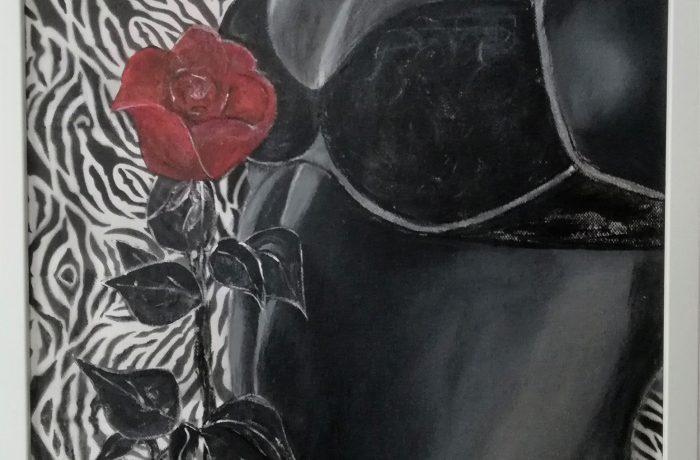 Verehrung, Acryl auf Keilrahmen mit Rahmen 43 x 53 cm