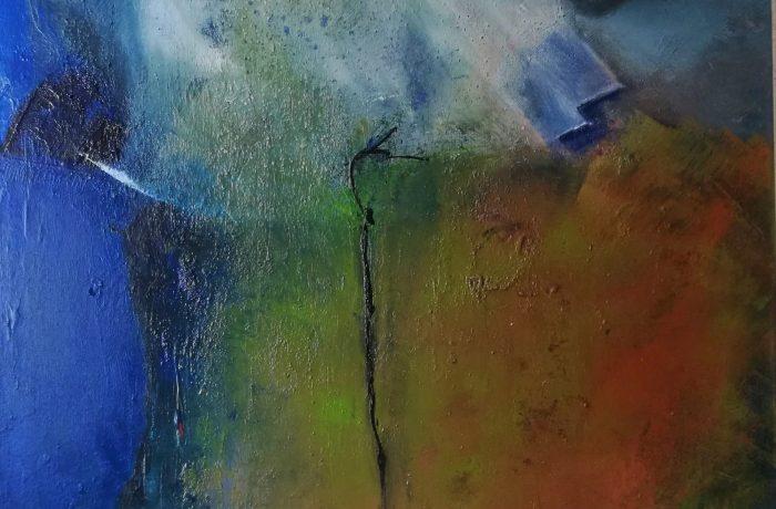 Streicheleinheiten, Acryl auf Keilrahmen 70 x 70 cm