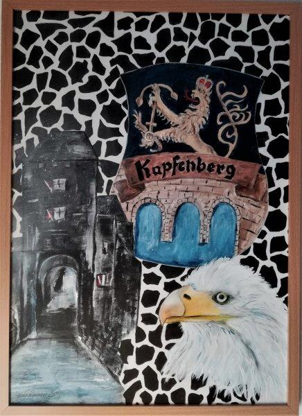 Mein Kapfenberg, Acryl auf Keilrahmen mit Rahmen 52 x 72 cm