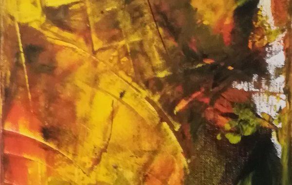 abstrakt, Acryl auf Keilrahmen 30 x 80 cm
