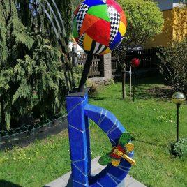 """ Farbenspiel ""   150 cm hoch"