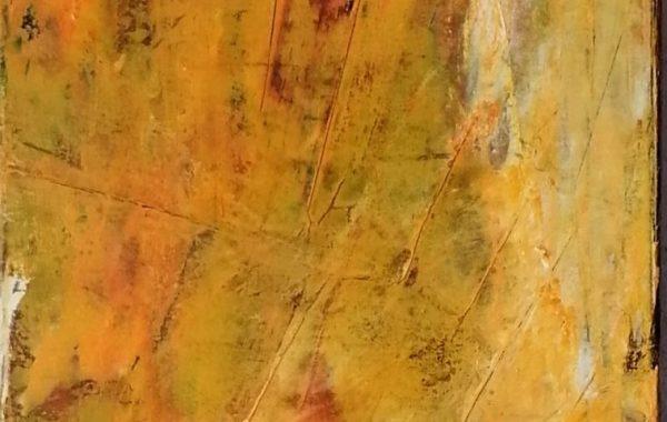 Abstrakt orange, Acryl auf Keilrahmen 30 x 100 cm