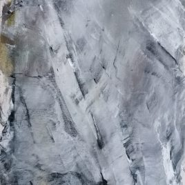 Abstrakt grau-weiß, Acryl auf Keilrahmen 30 x 40 cm
