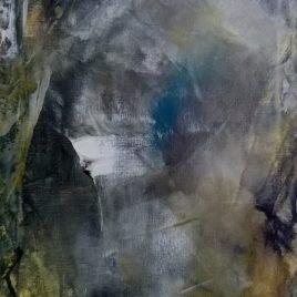Abstrakt grau-grün, Acryl auf Keilrahmen 30 x 40 cm