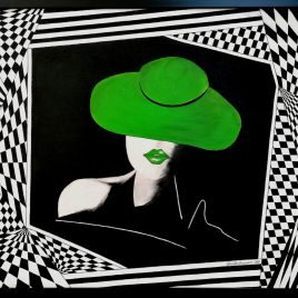 """ Pretty woman "" , Acryl auf Keilrahmen mit Rahmen 83 x 63 cm"