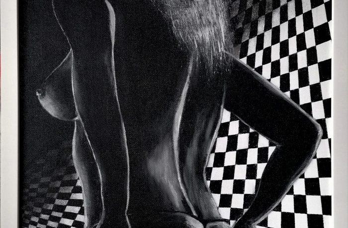 """""""Eine Brise voller Leidenschaft"""", Acryl auf Keilrahmen mit Rahmen 43 x 53 cm"""