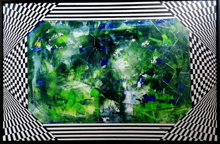 """""""Leben"""", Acryl auf Keilrahmen mit Rahmen 118 x 78 cm"""